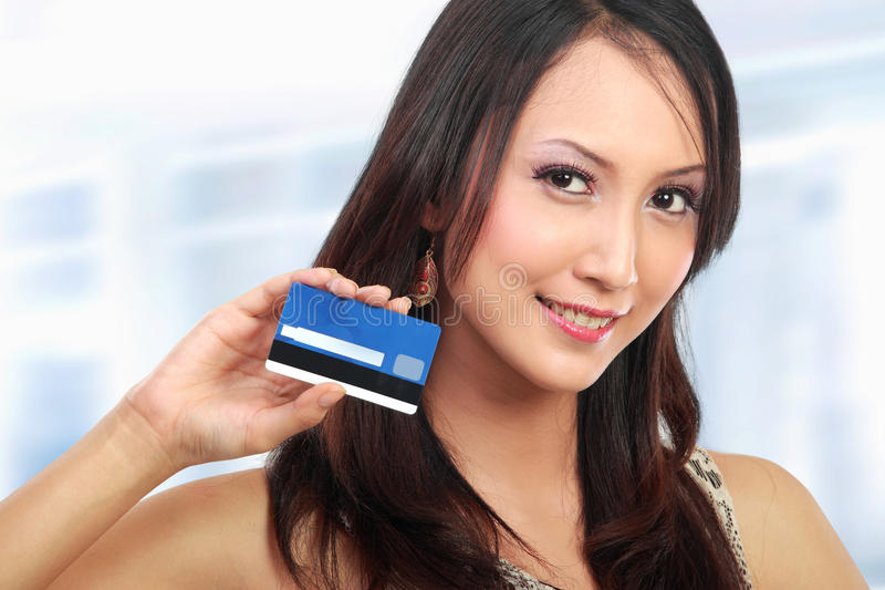 Woman With Credit Card Stock Photos