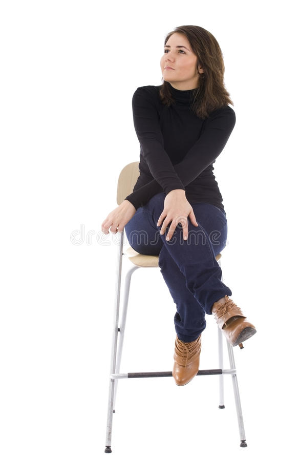 Download Woman With Crossed Arms And Legs Stock Image - Image: 12855219