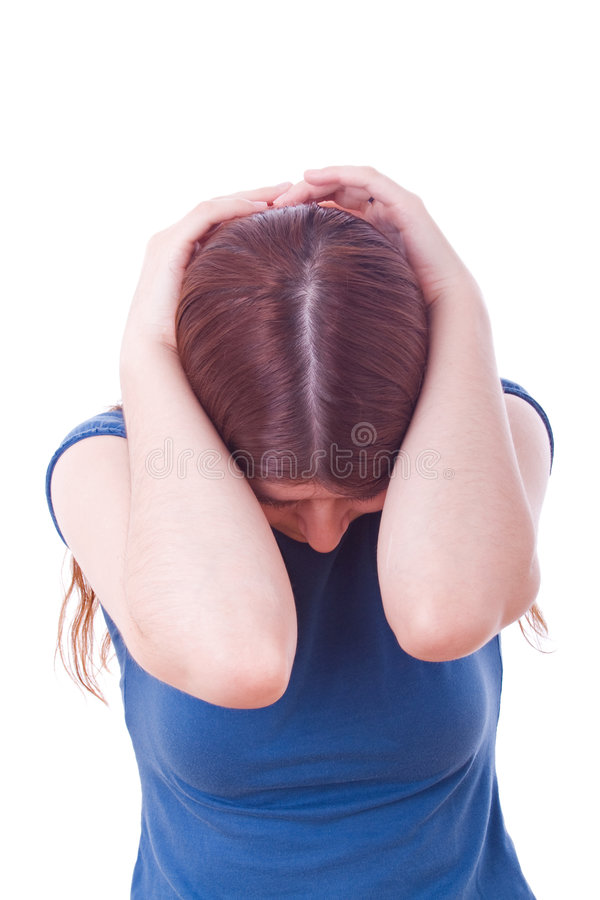 Woman crying royalty free stock image