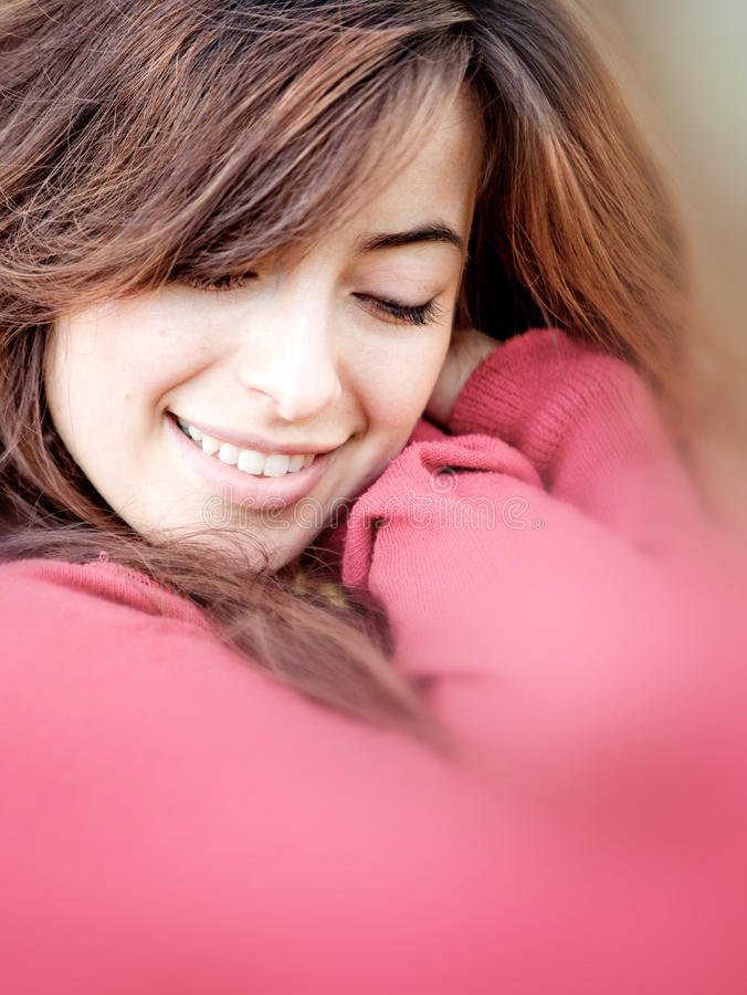 Download Woman cuddling stock photo. Image of gentleness, tenderness - 16035760