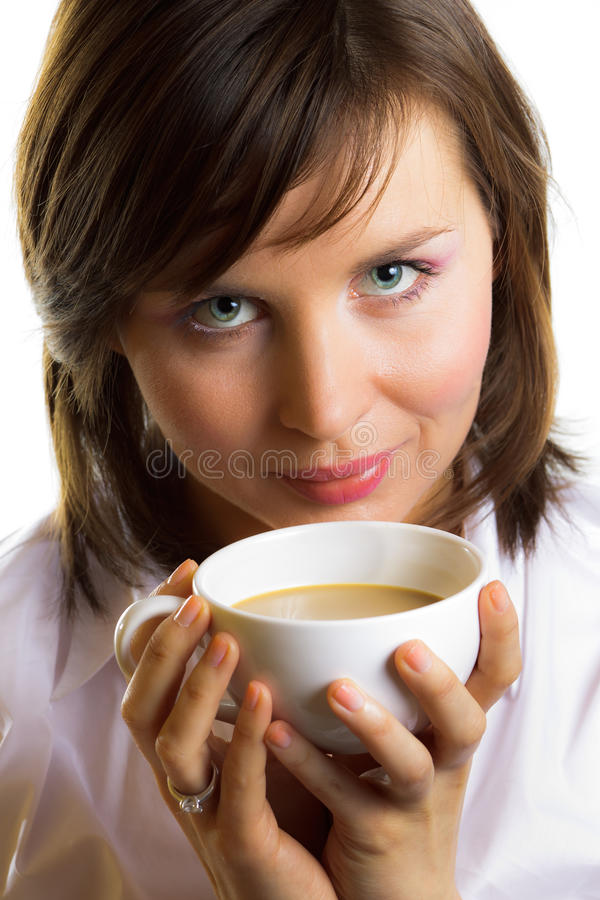 Download Woman with cup of coffee stock image. Image of business - 18870475