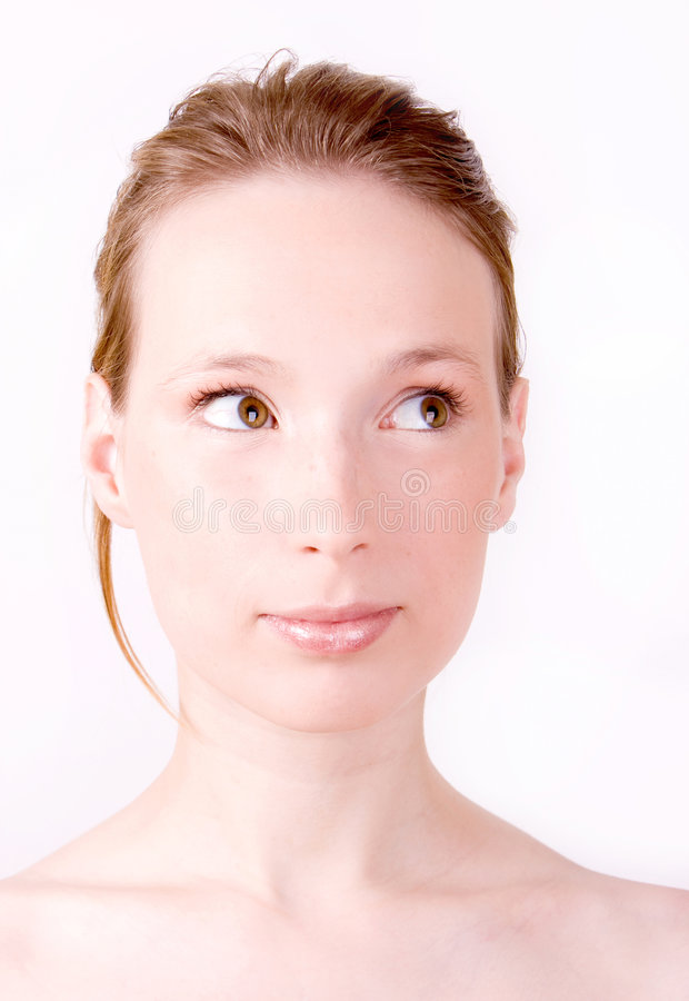 Free Woman Curious Face Bright Royalty Free Stock Photography - 7988287