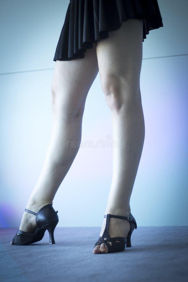 Woman dance fitness teacher stock photo