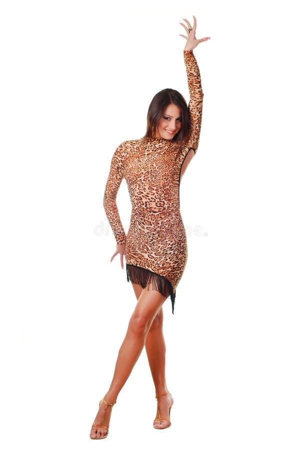 Download Woman dancer stock image. Image of dancer, brown, dress - 10158003