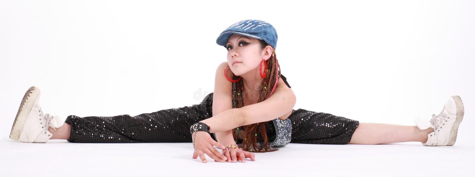 Woman dancer royalty free stock photography