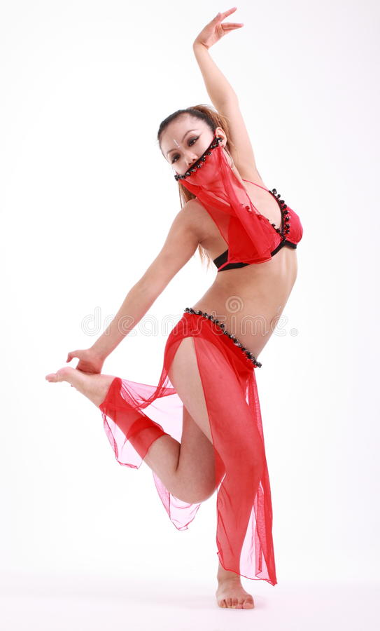 Woman dancer stock image