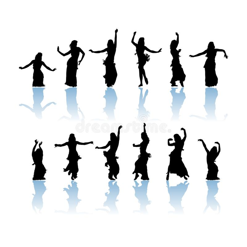 Free Woman Dancers Silhouette Royalty Free Stock Photography - 16028797