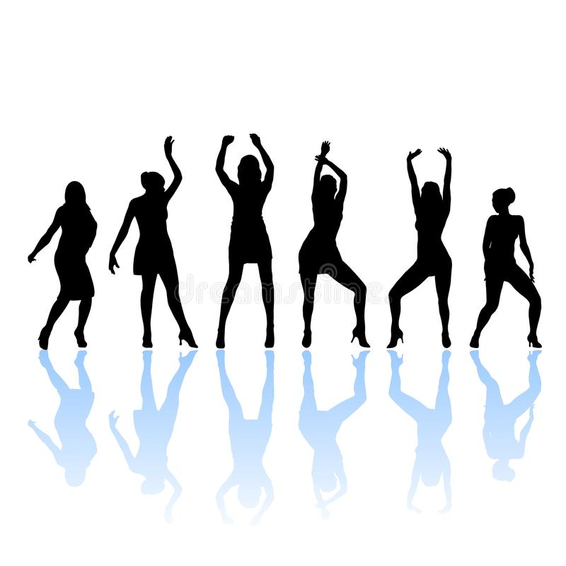Free Woman Dancers Silhouette Royalty Free Stock Photography - 17017747