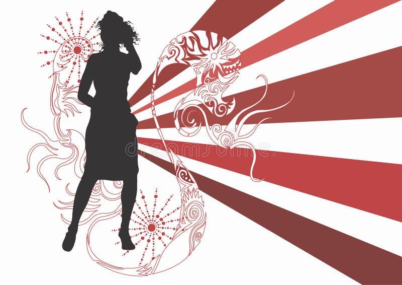 Woman dancing royalty free illustration