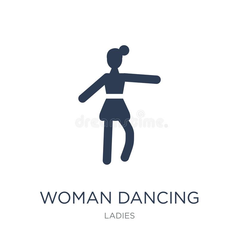 Woman Dancing Ballet icon. Trendy flat vector Woman Dancing Ball. Et icon on white background from Ladies collection, vector illustration can be use for web and vector illustration
