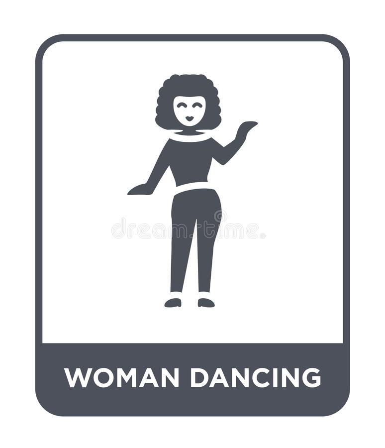 Woman dancing icon in trendy design style. woman dancing icon isolated on white background. woman dancing vector icon simple and. Modern flat symbol for web vector illustration