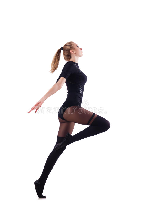 Download Woman dancing isolated stock image. Image of beautiful - 30479973