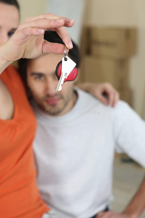 Download Woman dangling  keys stock image. Image of keychain, buyers - 22690607