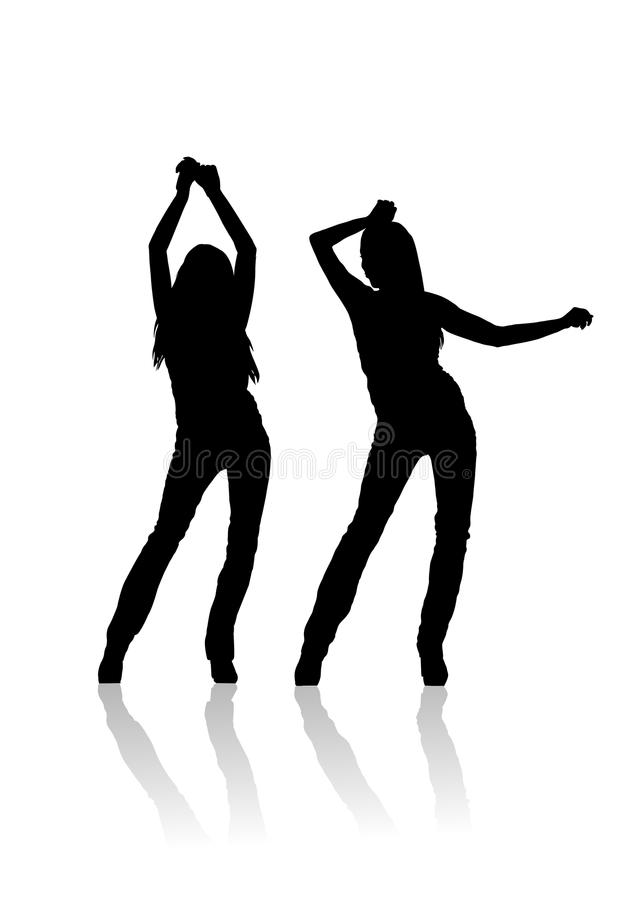 Woman danser silhouette. Illustration royalty free illustration