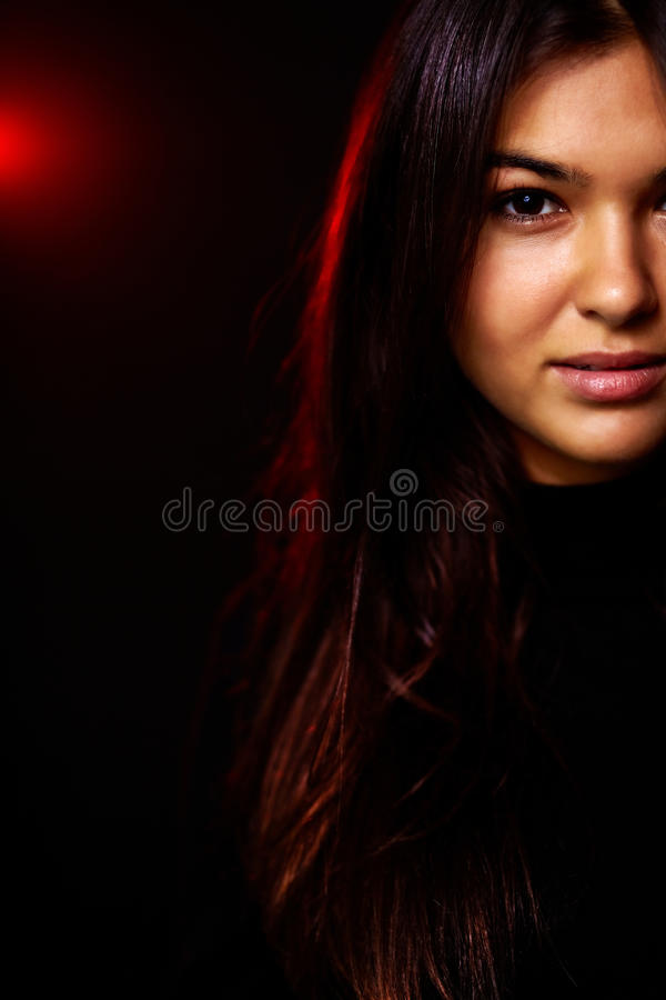 Download Woman In The Dark Royalty Free Stock Image - Image: 24309806