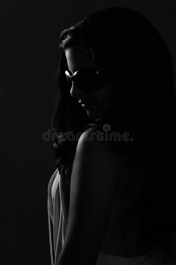 Woman in dark