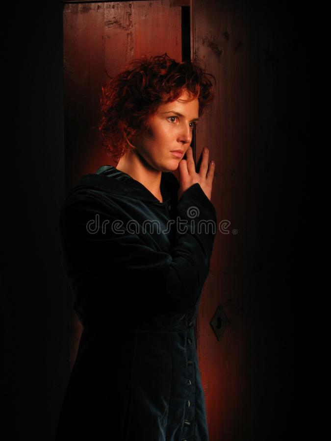 Woman A Dark Background Painted With Light. Artistic Portrait. Free Stock Photo