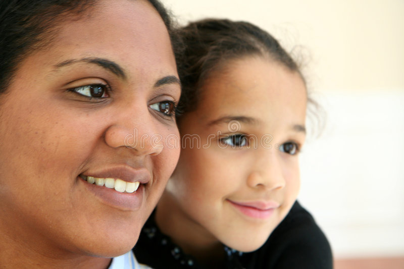 Woman and Daughter royalty free stock images