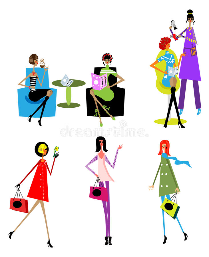 Free Woman Day Lifestyle Icons Stock Photography - 12889512