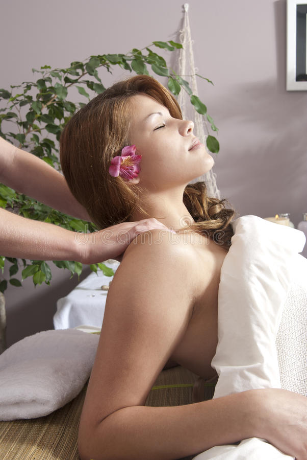 Woman At Day Spa Royalty Free Stock Image