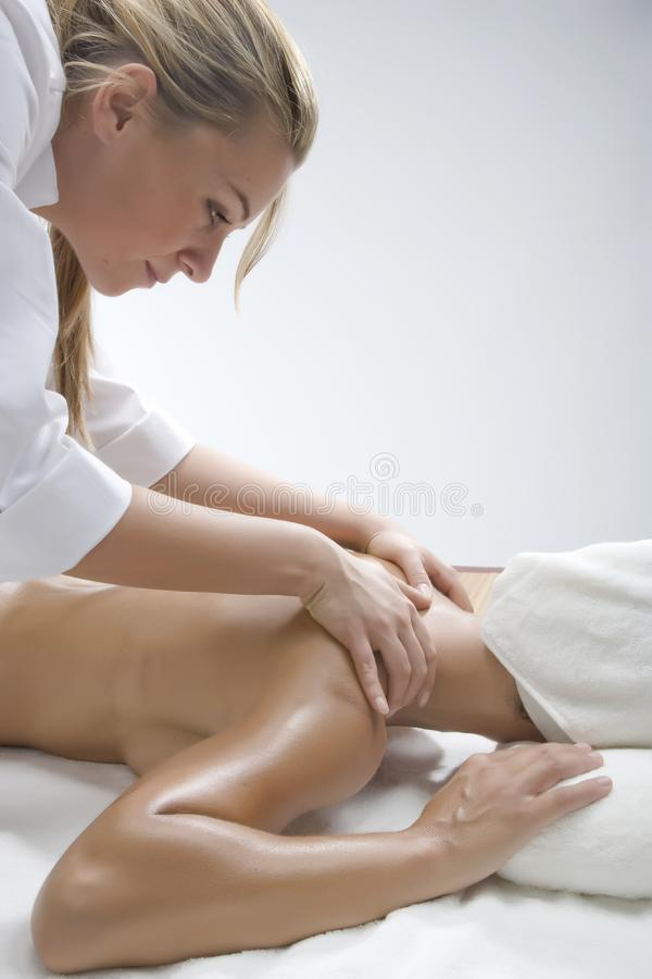 Woman in a day spa royalty free stock photo