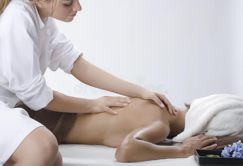 Woman in a day spa stock photo