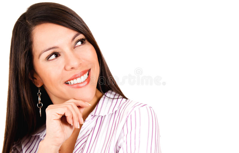 Download Woman daydreaming stock image. Image of smiling, person - 26391449