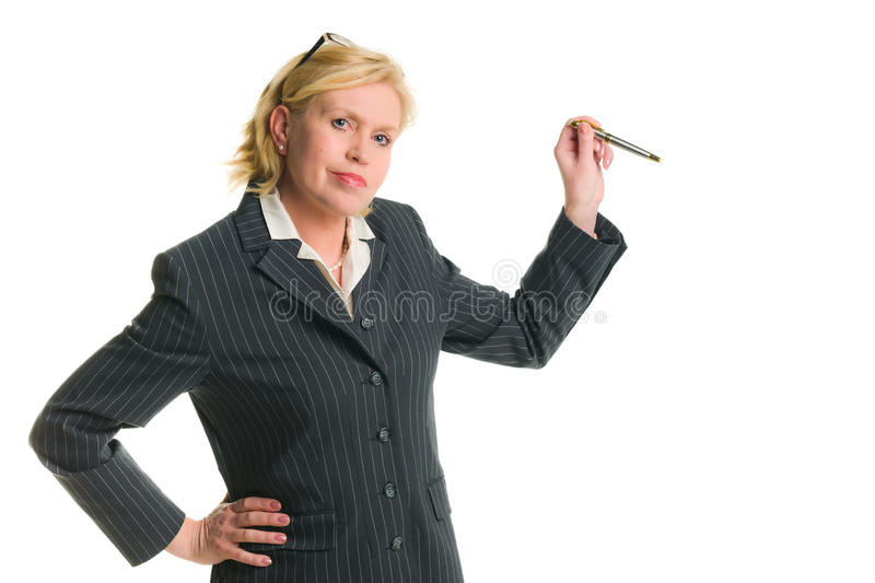 Download Woman demonstrate stock image. Image of businesspeople - 23099631