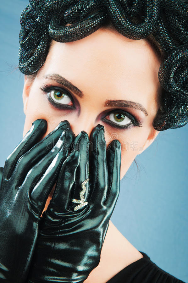 Download Woman Depicting The Concept Og Evil Stock Photo - Image of beautiful, devil: 18769840