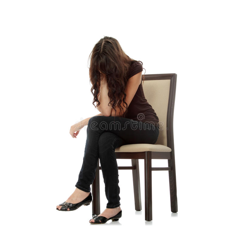 Woman with depression royalty free stock images