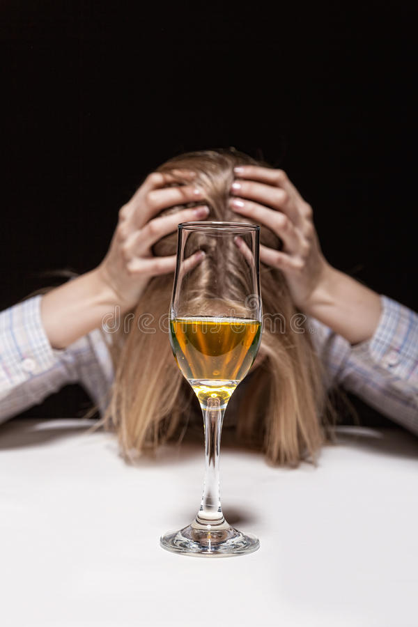 Woman in depression royalty free stock photo