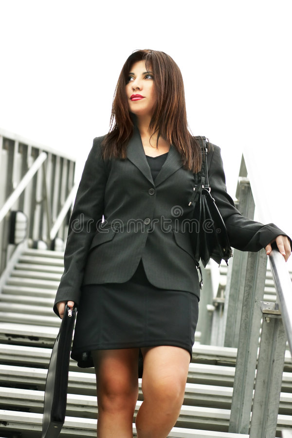 Download Woman Descending Royalty Free Stock Photo - Image: 74955