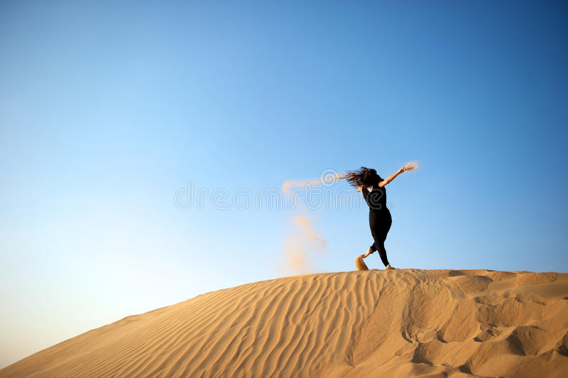 Download Woman In The Desert Stock Images - Image: 17924884