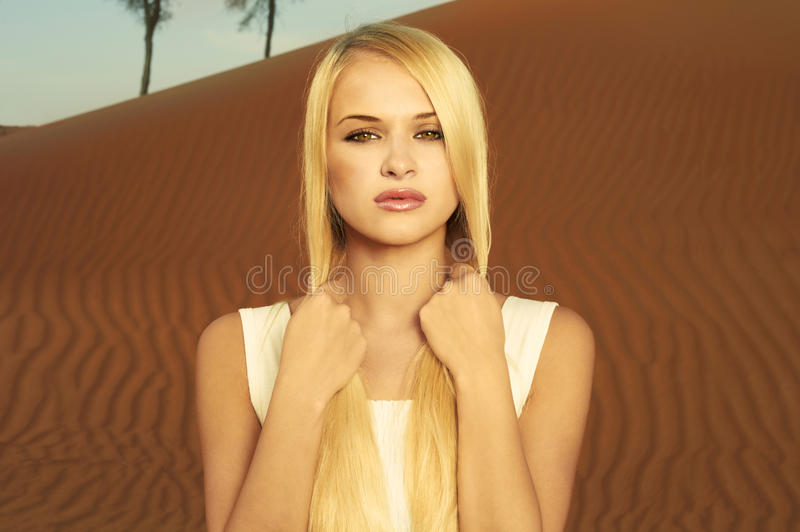 Download Woman and desert. UAE stock photo. Image of beautiful - 23457888