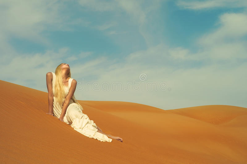 Download Woman and desert. UAE stock image. Image of fashion, nature - 23457897