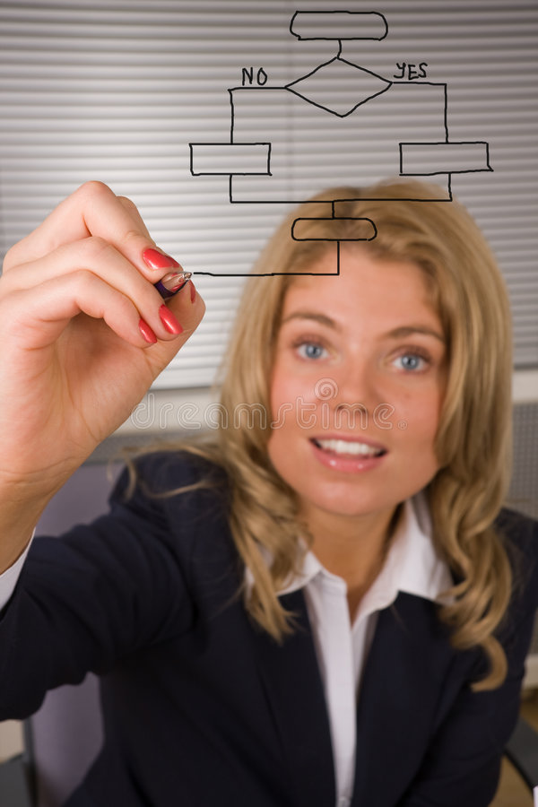 Download Woman Designing A Database Plan On A Screen Stock Image - Image of note, meeting: 7356081