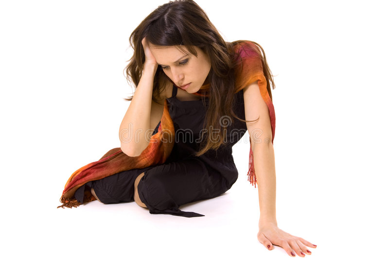 Woman in despair stock images
