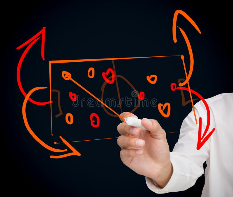 Download Woman Developing A Tactical Sport Strategy Stock Photo - Image: 31240720