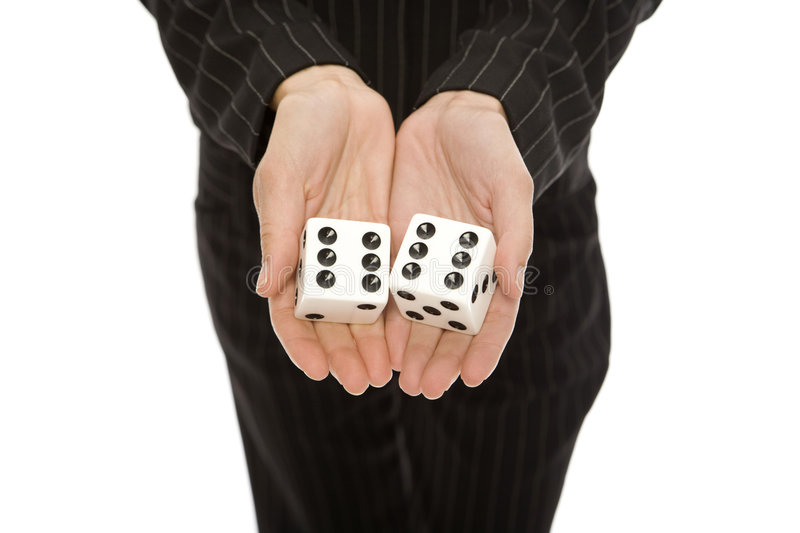 Download Woman with dice stock image. Image of black, concepts - 2386103