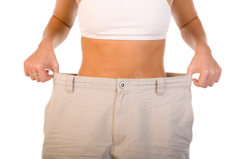 Woman After Diet Royalty Free Stock Image