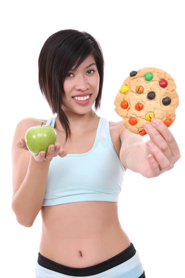 Download Woman On Diet Making Choice Stock Image - Image of good, happiness: 7997429