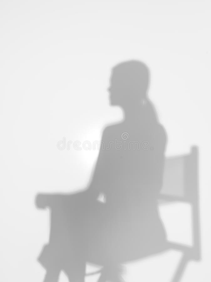 Download Woman On Director's Chair, Silhouette Stock Image - Image: 29160481