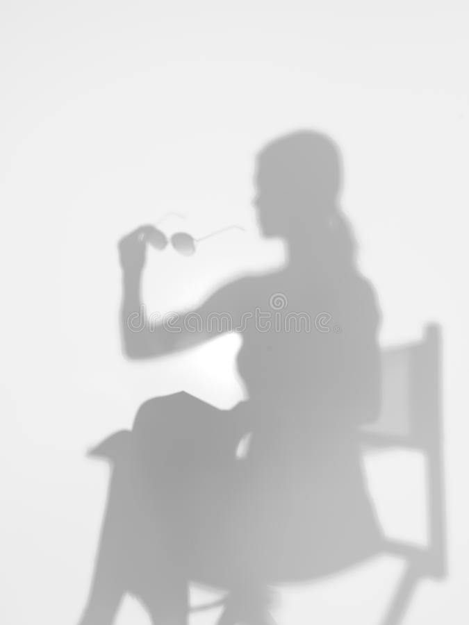 Download Woman On Director's Chair, Silhouette Stock Image - Image of portable, motion: 29160487