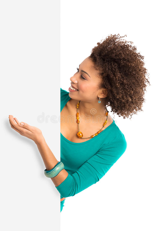 Free Woman Displaying Placard Royalty Free Stock Photo - 29912605