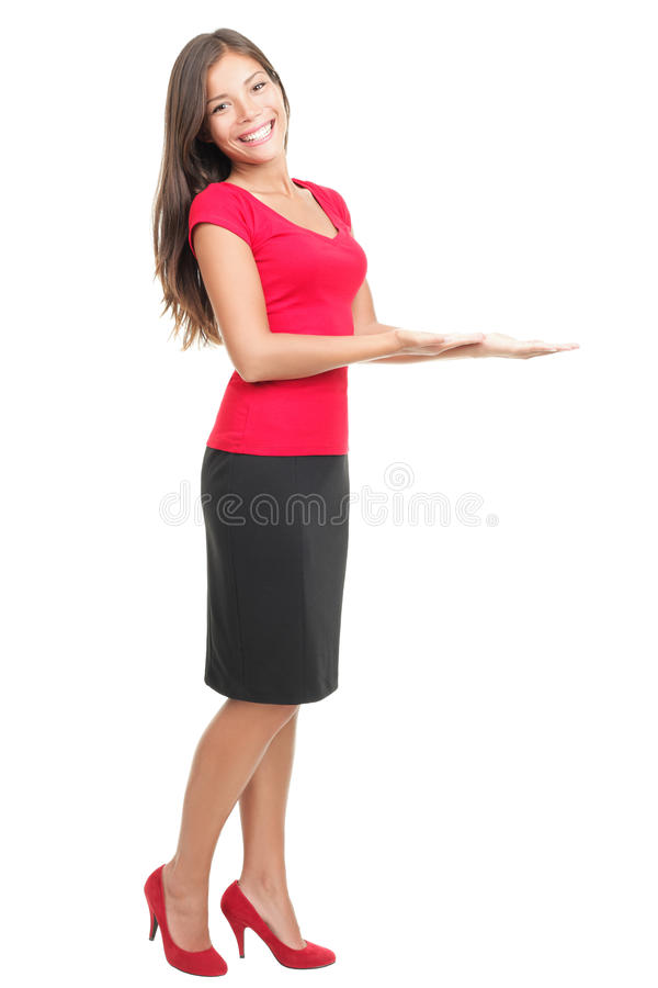 Download Woman Displaying / Showing Product Copy Stock Image - Image: 15508937