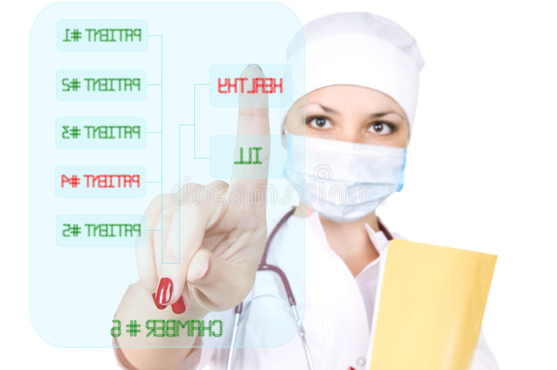 Woman the doctor royalty free stock images
