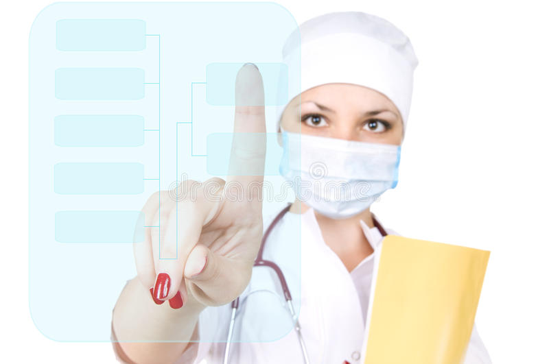 Woman the doctor royalty free stock image