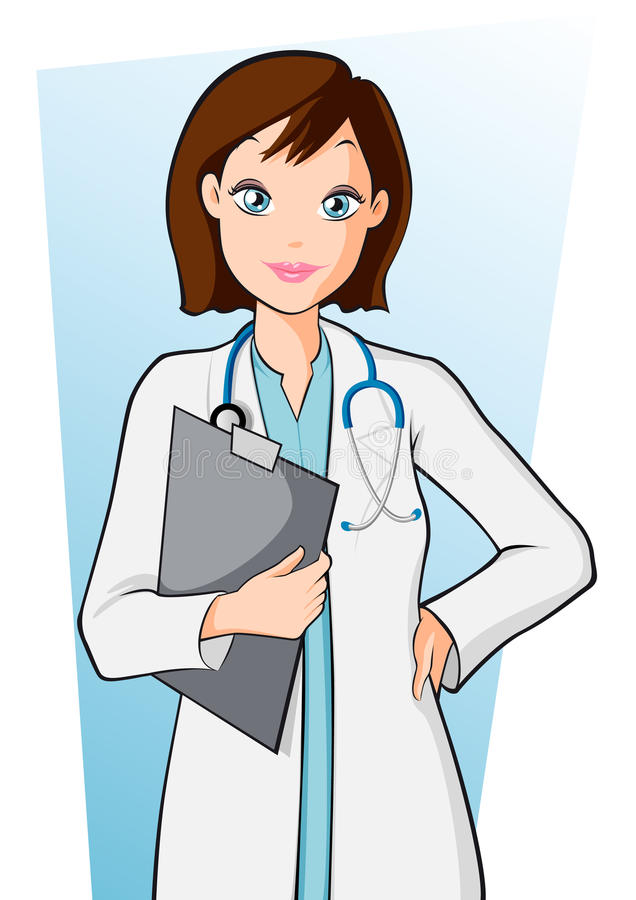 woman doctor stock vector illustration of shot technician 24145108 rh dreamstime com male and female doctor clipart black female doctor clipart