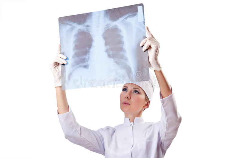 Download Woman Doctor Examining X-ray Stock Photo - Image: 26373534