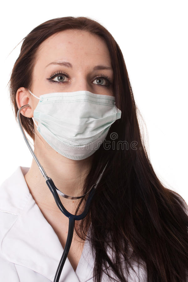 Download Woman doctor face stock photo. Image of lady, isolated - 23647636